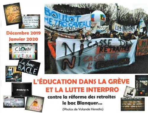 Livret de photos : l'éducation dans les manifestations, en vente au profit de la caisse de grève