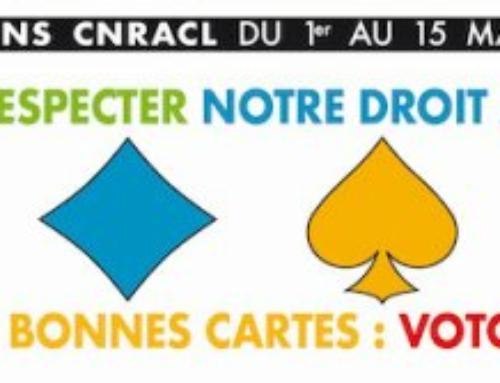 Agent-e-s de la territoriale : élections CNRACL du 1er au 15 mars 2021